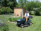 Mowing Grass on a Beautiful Day